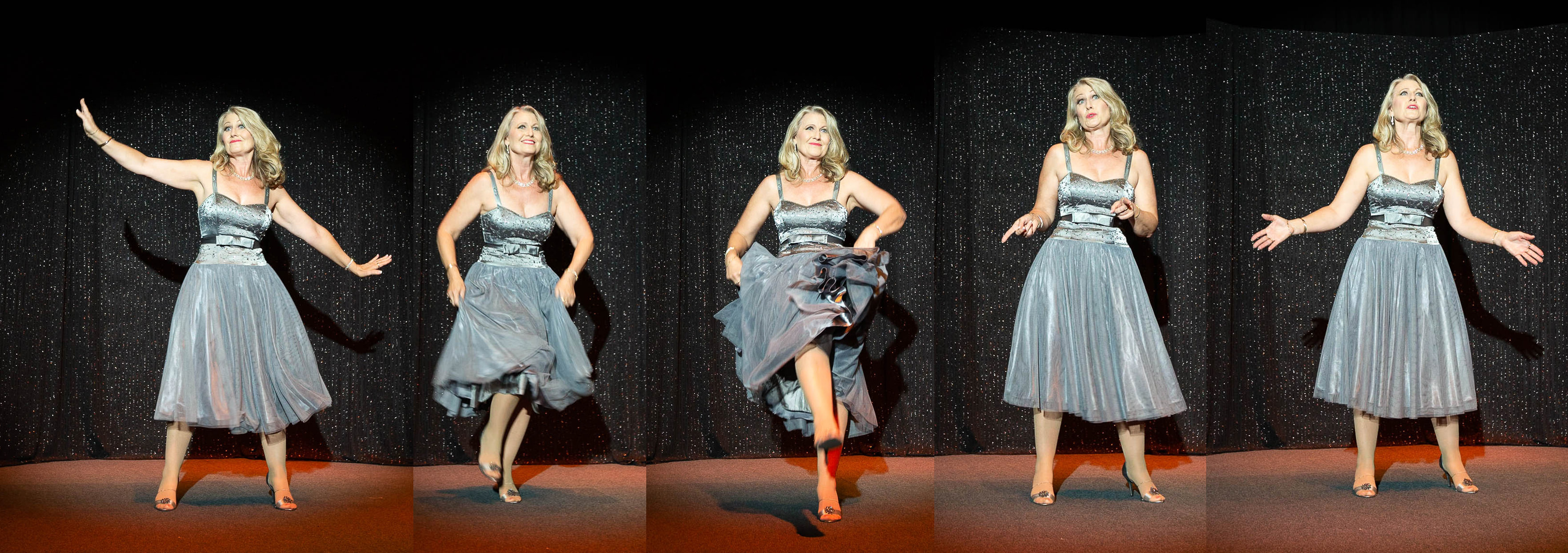 Photo of Jodi Ingram singing and dancing. Photo by Car Telfer, Photographer